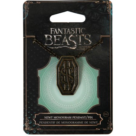 Fantastic Beasts and Where to Find Them Newt Monogram Pendant Pin](Fangtastic Halloween)
