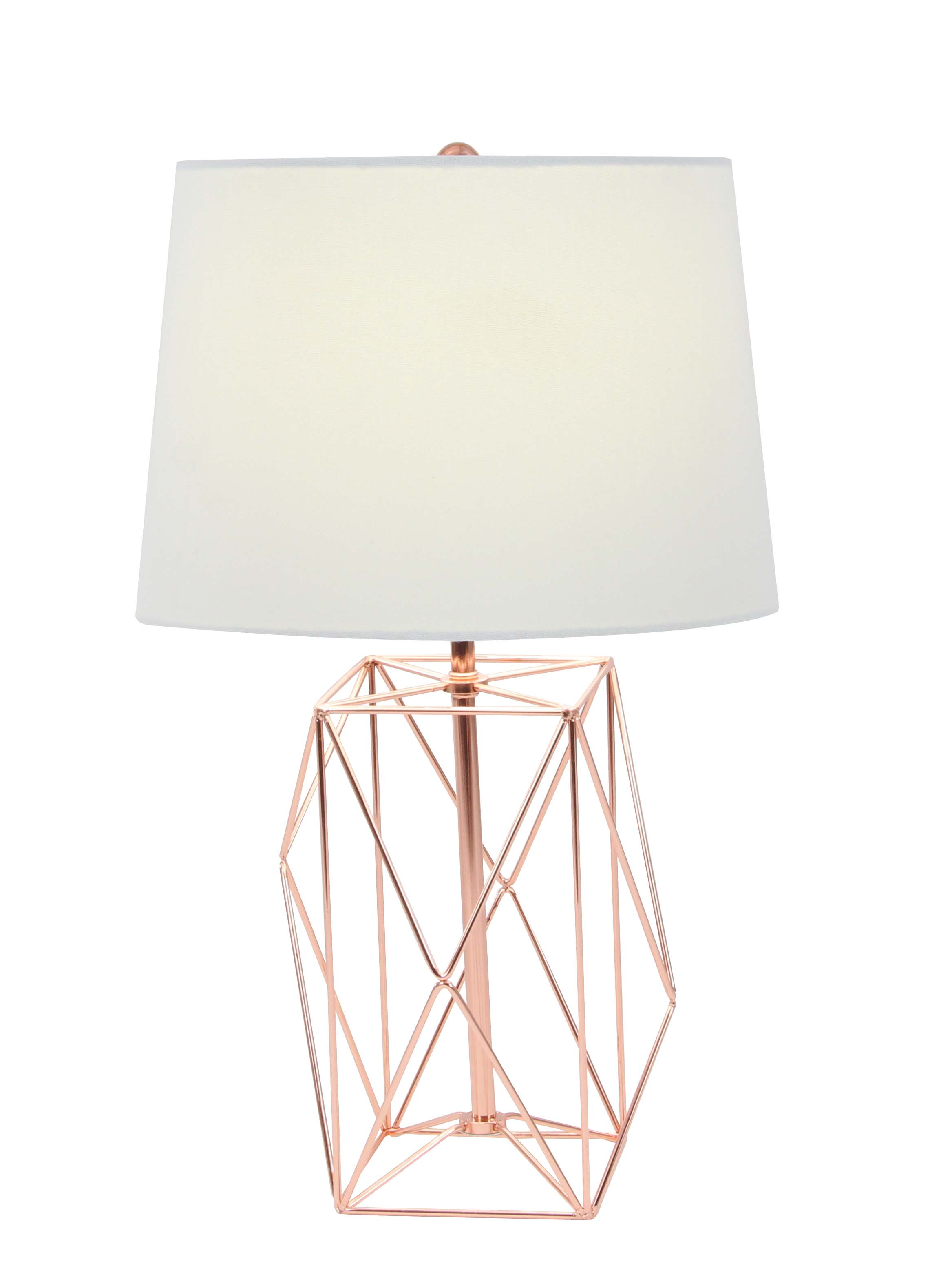 Decmode Contemporary 21 X 13 Inch Asymmetrical Metal Wire Table Lamp, White by DecMode