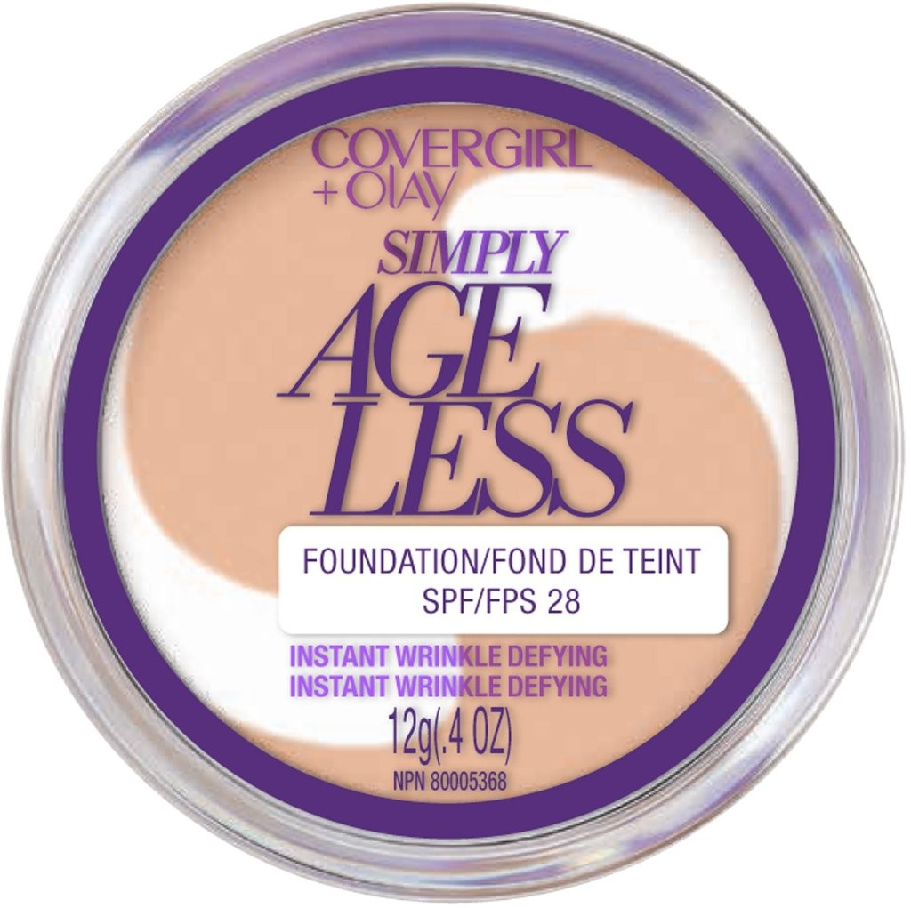 CoverGirl & Olay Simply Ageless Foundation, Buff Beige [225] 0.40 oz (Pack of 2)