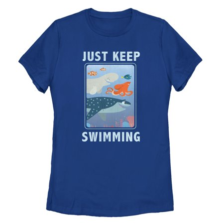 Finding Dory Women's Keep Swimming Frame T-Shirt Just keep swimming with a fun new Finding Dory shirt! Shop Finding Dory graphic tees featuring Dory, Marlin, Nemo, Hank, Bailey, and all your favorite Finding Dory characters.