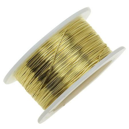 Artistic Wire Brass Craft Wire 28 Gauge Thick 15 Yard