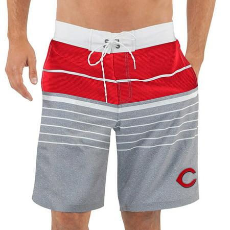 Mens G Iii Sports By Carl Banks Red Cincinnati Reds Balance Swim Trunks