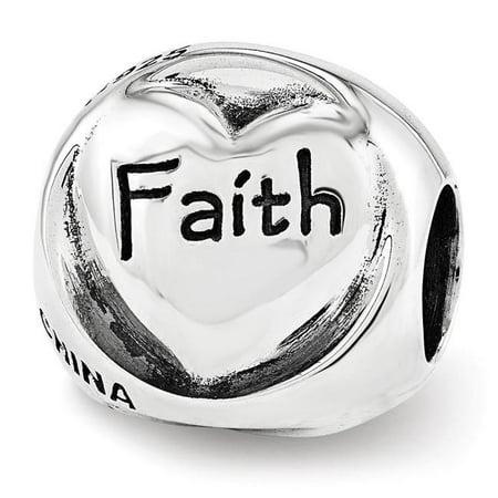 Reflection Beads QRS3380 Trilogie en argent sterling Faith Hope Love - Polie & Antiqued - image 1 de 1