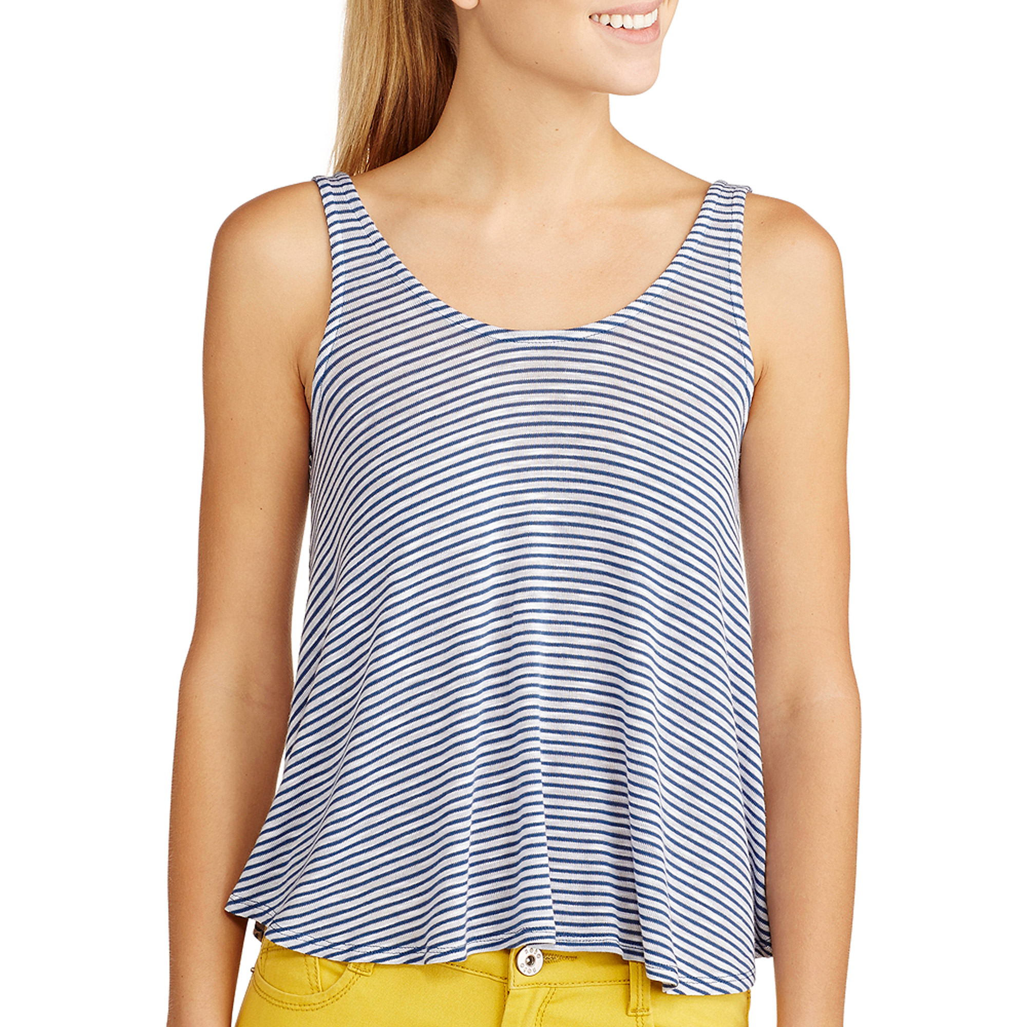 Derek Heart Juniors' Striped Knit Tank