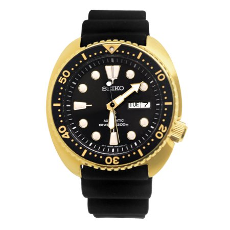 SRPC44 Prospex Automatic Black Gold Day Date Silicone Band Watch New