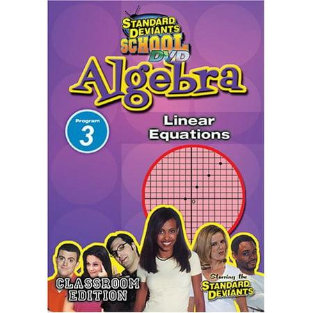 Algebra Module 3: Linear Equations (DVD)