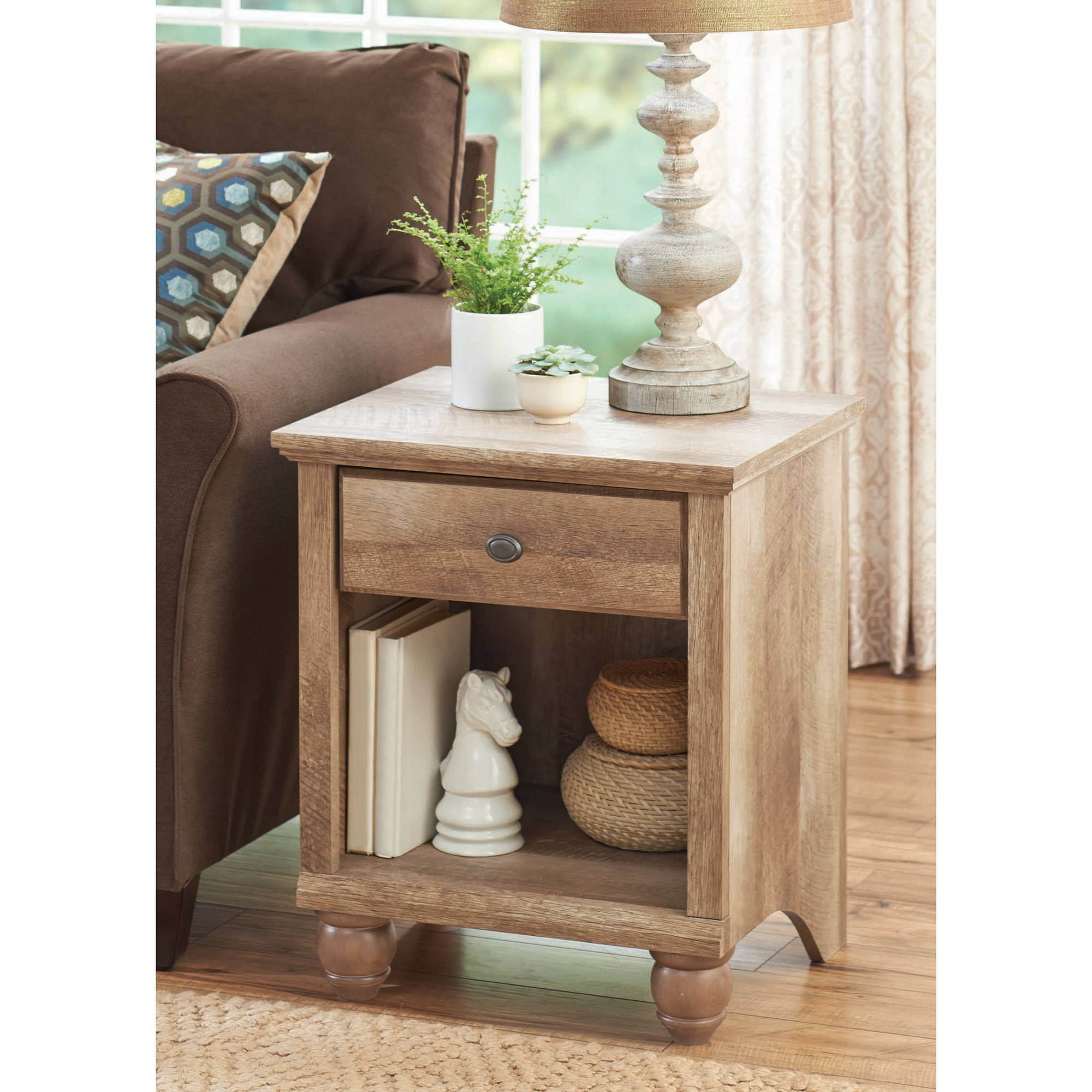 Better Homes Gardens Crossmill Accent Table Weathered Finish