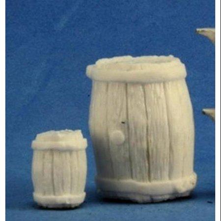 Reaper Miniatures Large Barrel + Small Barrel #77249 Bones Unpainted (Small Miniature)