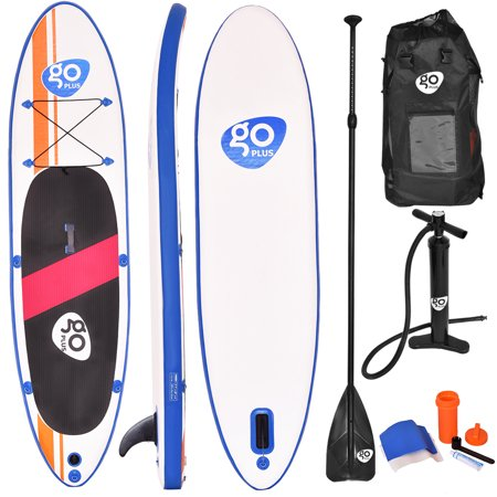 Costway Goplus 10'Inflatable Stand Up Paddle Board SUP w/ Fin and Adjustable Paddle Backpack](stand up paddle board package deals)