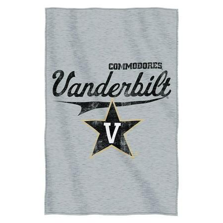 Ncaa Vanderbilt Commodores   Script   54   X 84   Sweatshirt Throw