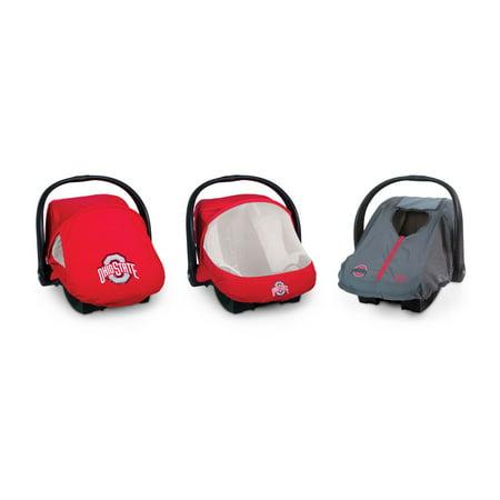 Stupendous Cozy Cover Lightweight Infant Car Seat Cover Combo Pack Ohio State Inzonedesignstudio Interior Chair Design Inzonedesignstudiocom