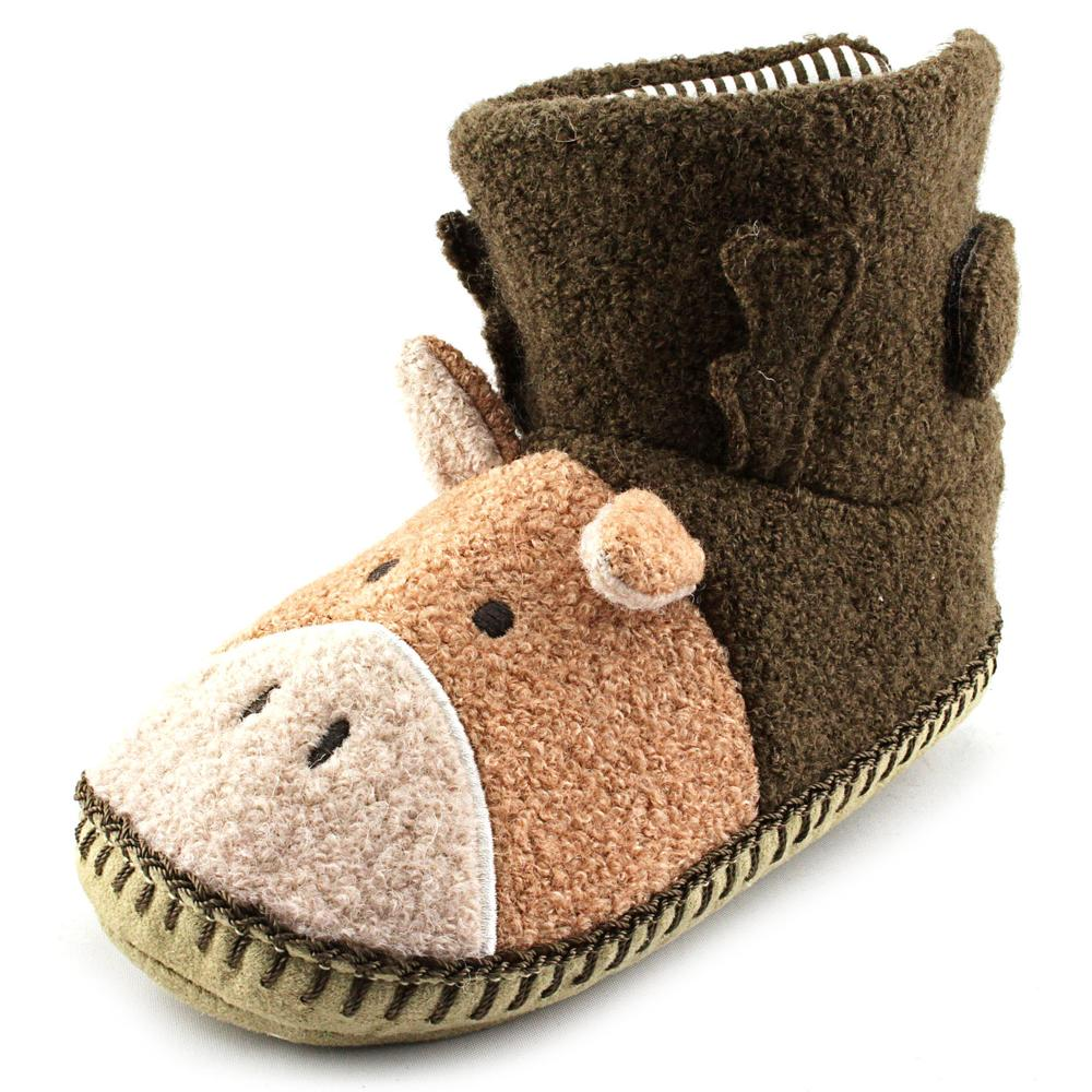 Hanna Andersson Moose   Round Toe Canvas  Slipper