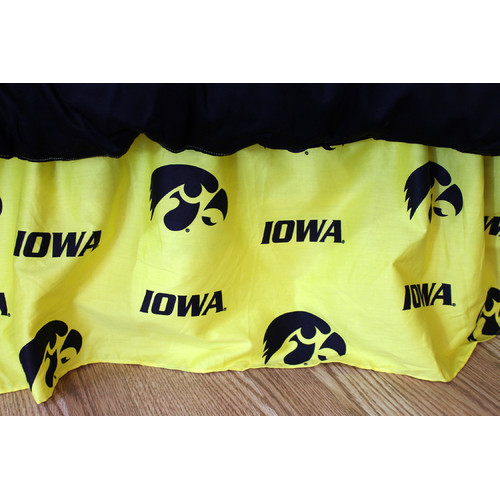 College Covers NCAA Iowa Printed Dust Ruffle