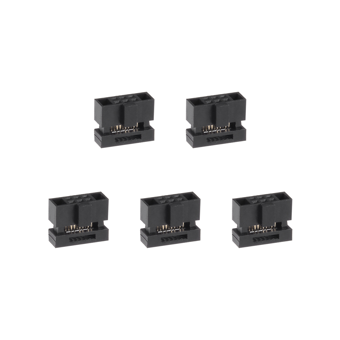 5Pcs 2x9Pin 1.27mm Pitch Double Rows Straight Connector IDC FC Ejector Header