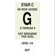INTERSIGN NFPA-PVC1812-X(CGN8) NFPASgn,Stair Id C,Floors Served G to 8 G0265837