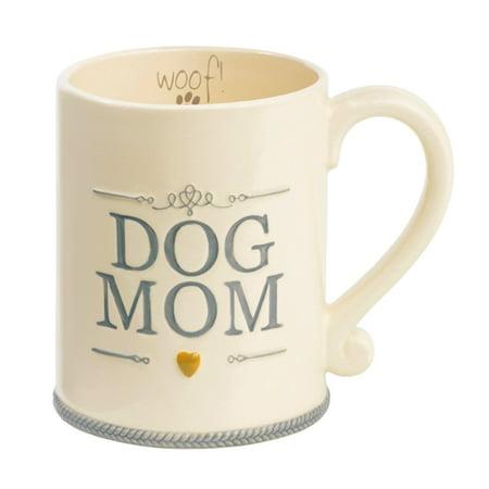 Dog Mom Ceramic Coffee Mug Cup Woof Animal Pet Lover Gift Grasslands Road ()