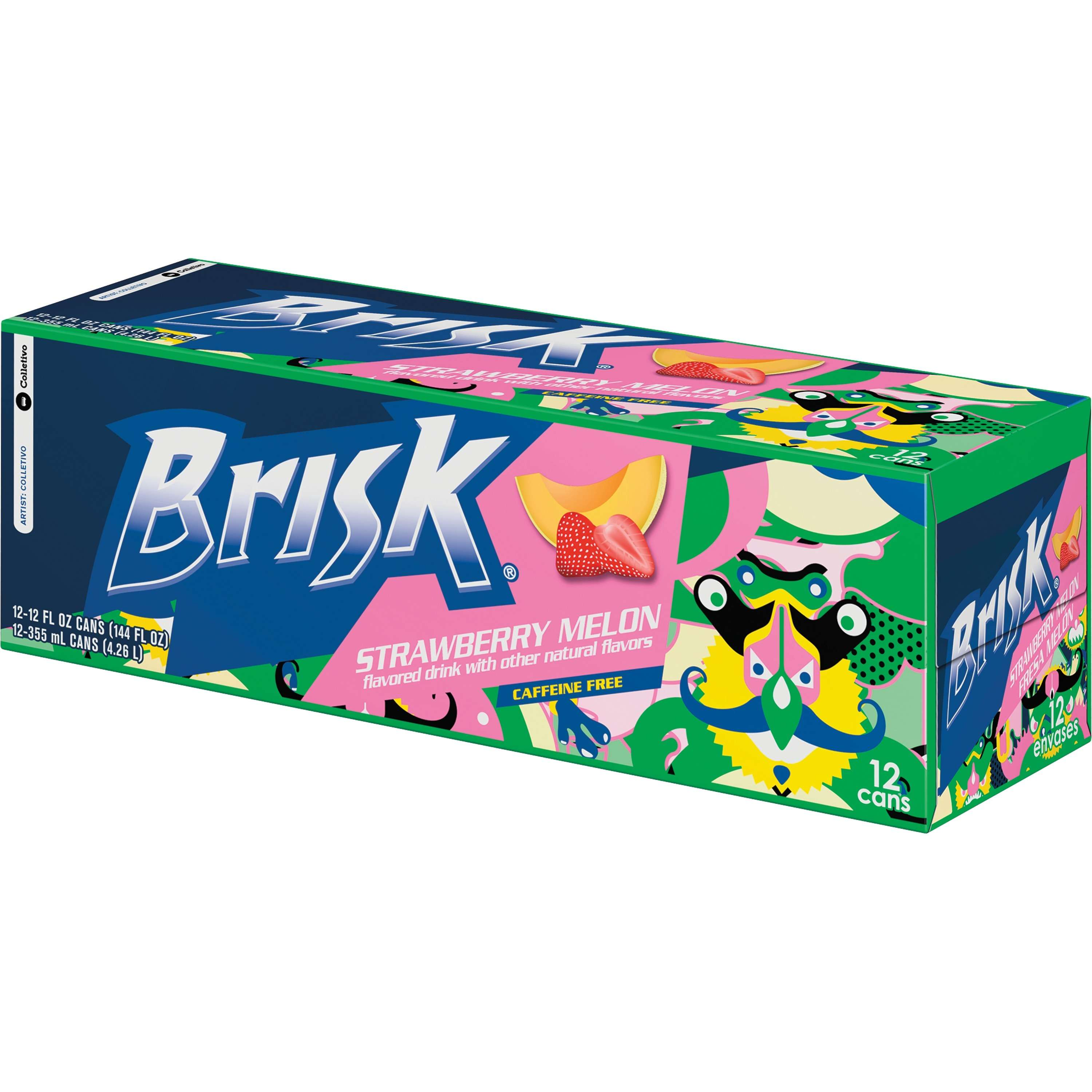 Brisk® Melon Strawberry Flavored Drink 12-12 fl. oz. Cans