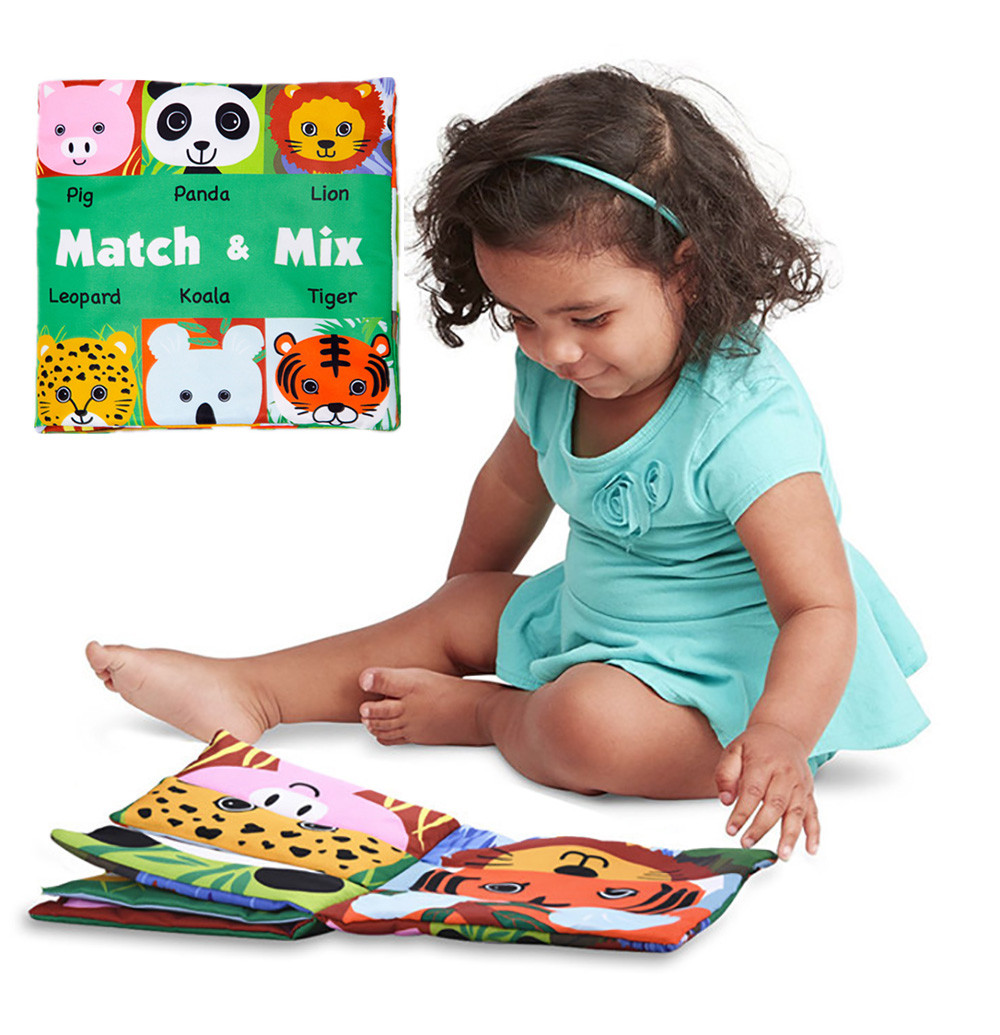 Mosunx Face Matching Baby Toy Cloth Development Books Learning & Education Cloth Books