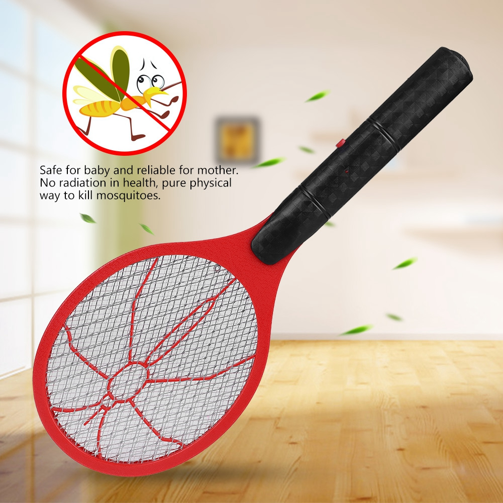 TOPINCN Cordless Battery Power Electric Fly Mosquito Swatter Bug Zapper Racket Insects Killer, Electric Bug Swatter,Electric Mosquito Swatter
