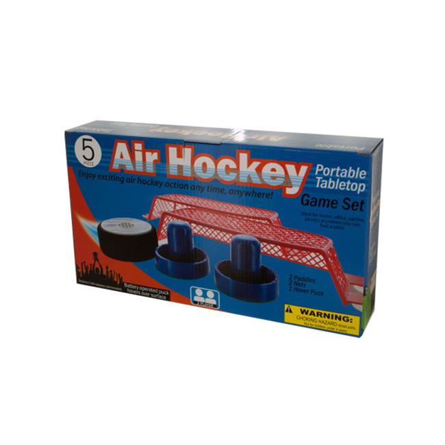 Bulk Buys OD512-2 Portable Tabletop Air Hockey Game Set by