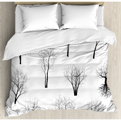 Ambesonne Apartment Spooky Horror Movie Themed Branches F...
