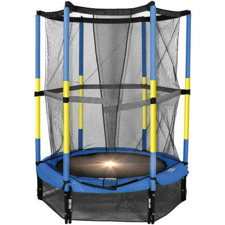 Bounce Pro 55-Inch My First Trampoline, with Safety Enclosure, Blue