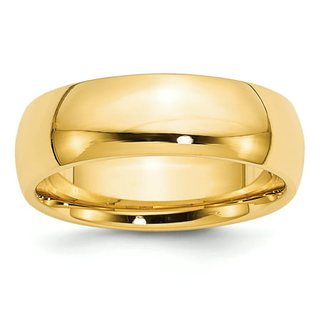 14k Yellow Gold 7mm Comfort Fit Wedding Ring Band Size 5.00 Classic Cf Style Mm B Width Fine Jewelry Gifts For Women For Her - image 7 de 7