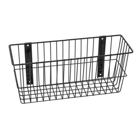 - Rack'Em 9088-B Mount Anywhere Black Wire Basket 18