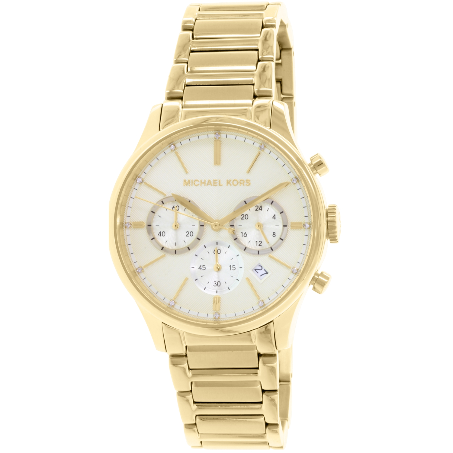 Michael Kors Women's Bailey MK5986 Gold Stainless-Steel Quartz Fashion Watch