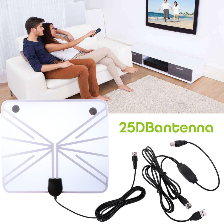 TV Antenna, 1080P 50 Miles Range Indoor Digital HDTV Antenna,13ft Upgraded USB Powered Amplified Antenna, Anti-Interference Detachable Amplifier Signal Booster for Television Channels