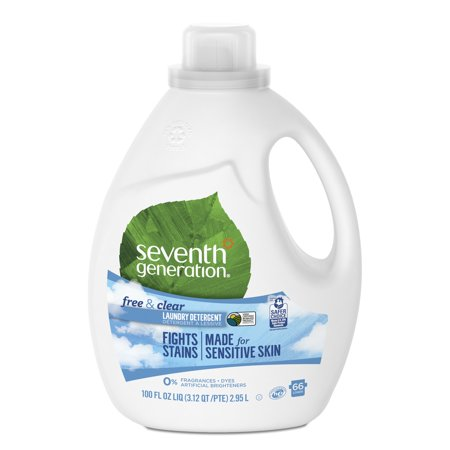 Seventh Generation Free & Clear Liquid Laundry Detergent 100 oz