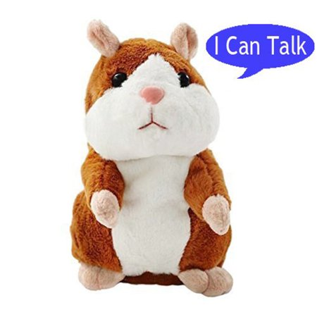 Codream Plush Interactive Toys PRO Talking Hamster Repeats What You Say Electronic Pet Chatimals Mouse Buddy for Boy and Girl, 5.7 x 3 inches(brown) (Boy Hamsters)