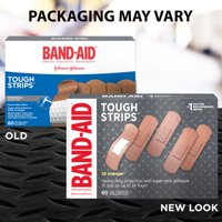 Band-Aid Brand Tough Strips Adhesive Bandage, All One Size, 60 ct