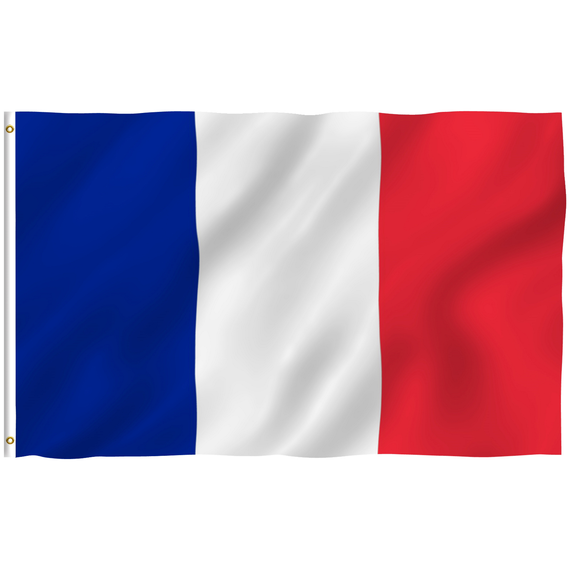 ANLEY [Fly Breeze] 3x5 Feet French Flag - Vivid Color and UV Fade Resistant - Canvas Header and Brass Grommets - France FR Banner Flags