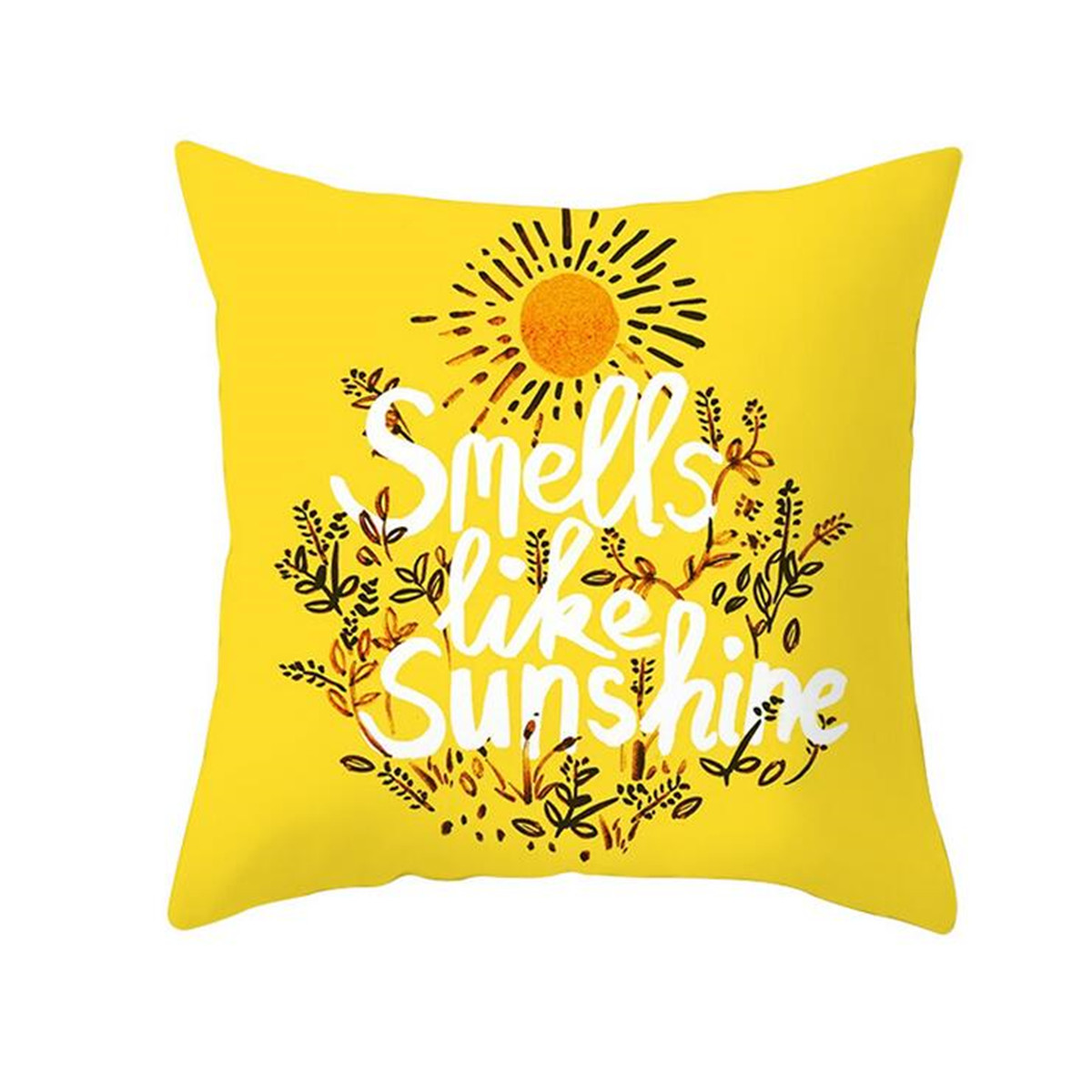 18x18inch Pillow Cover family  cats with yellow  sun painting
