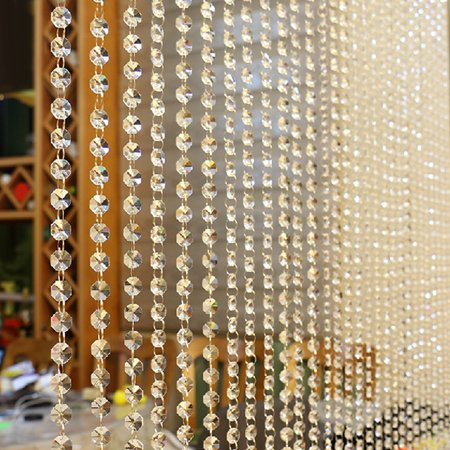 Crystal Glass Bead Curtain Luxury Living Room Bedroom Window Door Wedding Decor ()