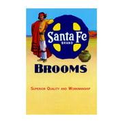 """Sante Fe Brand Brooms"" Print (Canvas 24x36)"