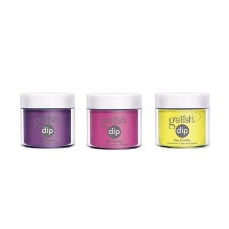 Gelish Soak Off Acrylic Powder Dip Nail Polish Rocketman Color Collection 3 Pack