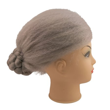Loftus Old Lady Grandma Bun Costume Grandmother Wig, Gray, One Size (Grandmother Costume)