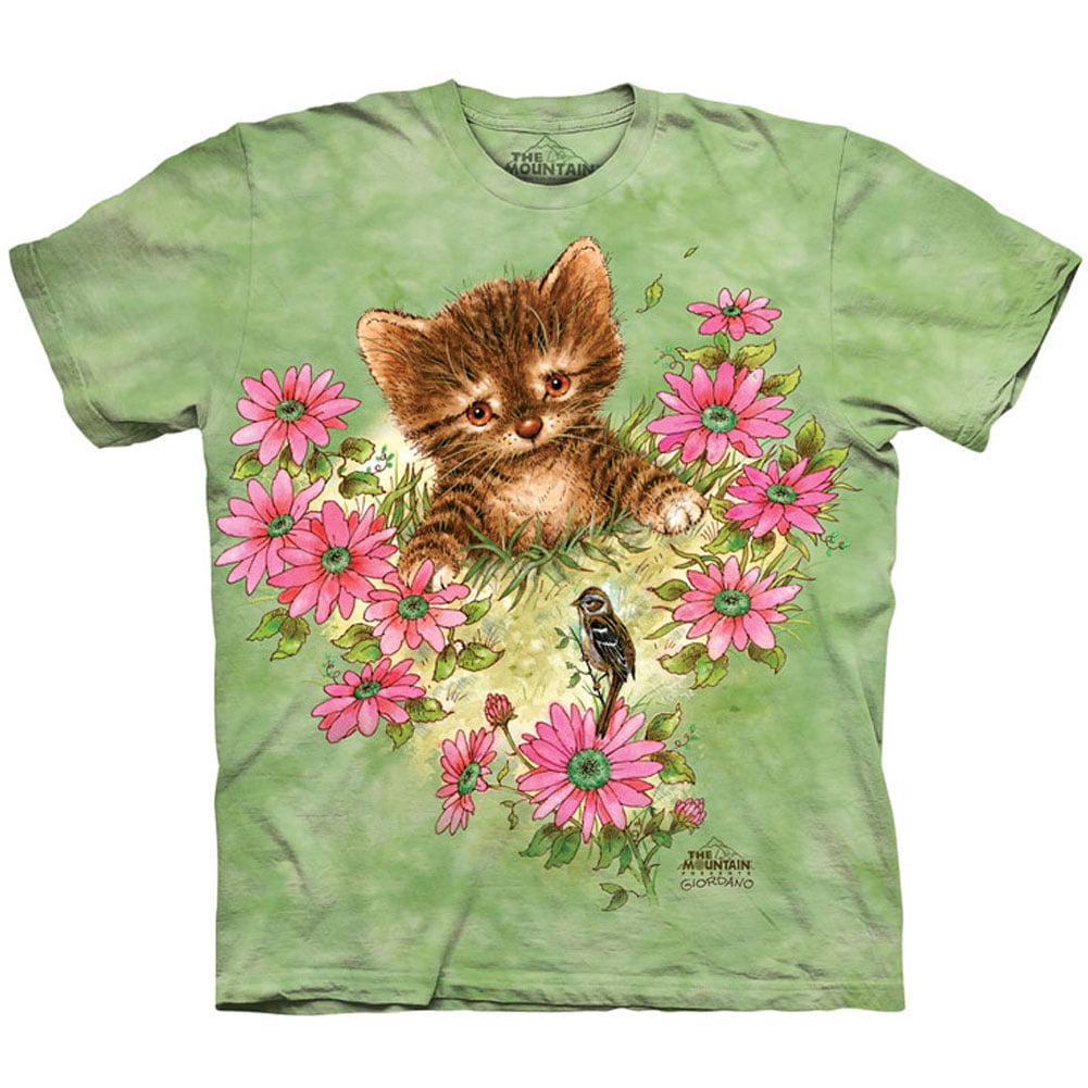 The Mountain Men's  Curious Little Kitten T-shirt Green