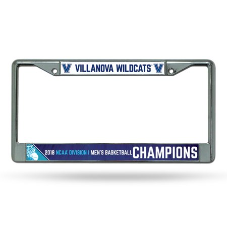 National Champions License Plate - Villanova Wildcats Official NCAA 2018 National Championship License Plate Frame Chrome by Rico 386007