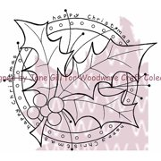 """Woodware Clear Stamps 3.5"""" x 3.5"""" Sheet, Holly Ring"""
