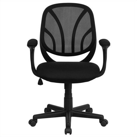 flash furniture y go mid back mesh office chair. Black Bedroom Furniture Sets. Home Design Ideas