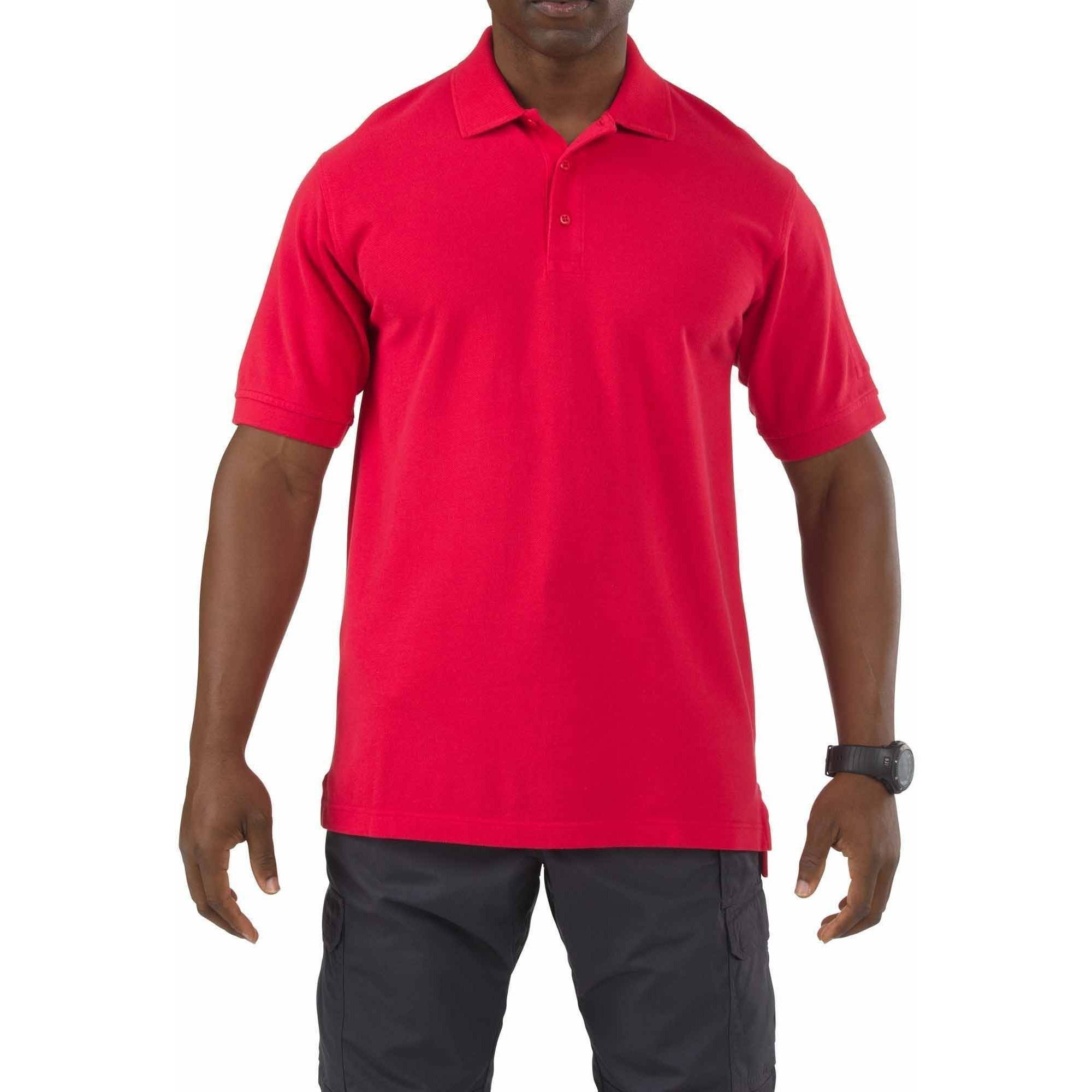 5.11 Tactical Short Sleeve Professional Polo Shirt, Range Red
