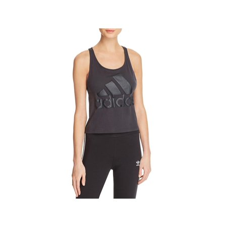 Adidas Womens Crop Racerback Pullover Top Gray L