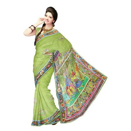 LAMINATED POSTER Dress Woman Clothing Model Saree Fashion Silk Poster Print 24 x