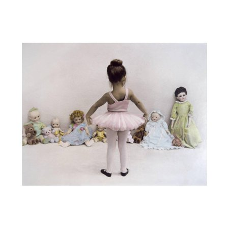 - Little Ballerina in Pink with Dolls Print Wall Art By Nora Hernandez