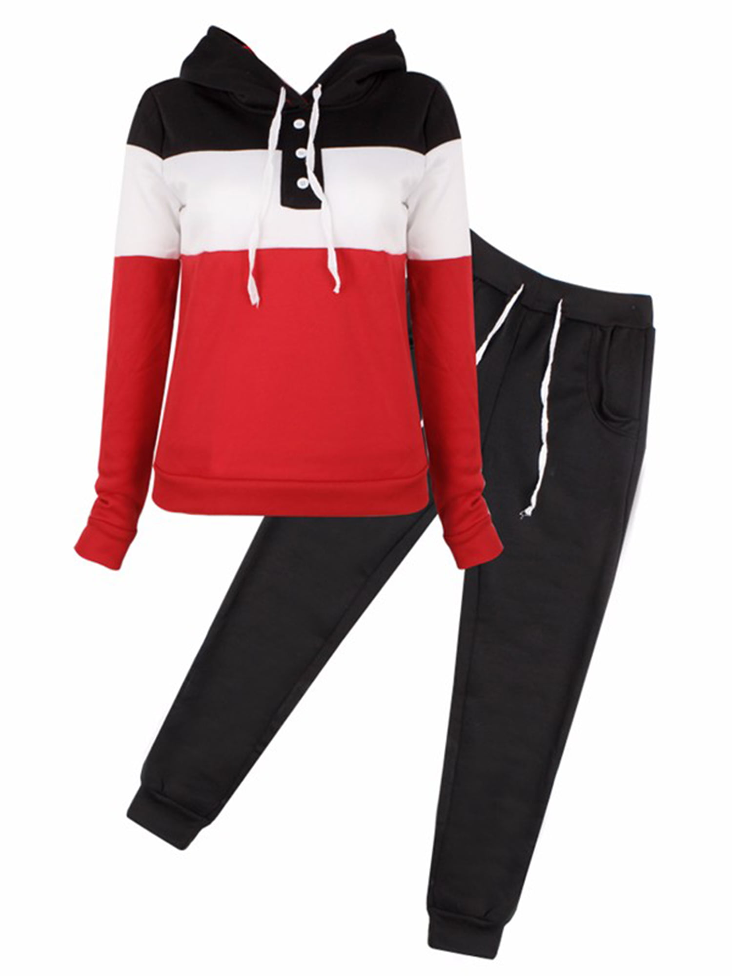 Tracksuit Long Pants Hooded Outfit Set Wan-T Mens Zipper Drawstring 2 Piece Outfits Sweatshirt