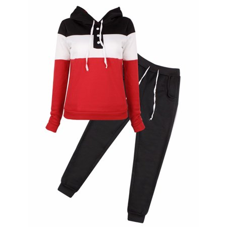 Cyber Monday Deals! Women's Long Sleeve Tracksuits for Women, Casual Two-Piece Sportswear Hoodie Sweatshirt for Women, Black / Gray / Blue Tops with Sweatpants Gift for Ladies, Clearance! S-XL](Panda Suit For Sale)