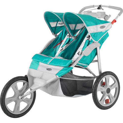 InStep Flash Double Jogger Stroller, Grass/Gray